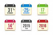 Постер, плакат: Vector calendar icons set for holidays