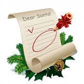 stock photo of letters to santa claus  - Letter to Santa Claus With Blank Guidelines - JPG