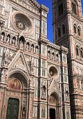 foto of tithe  - view of the beautiful florence duomo in italy - JPG