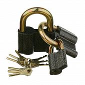 Three padlocks