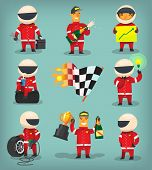 Постер, плакат: Racing set
