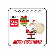Christmas Holiday Cartoon Calendar