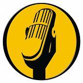 Ilustración de micrófono Vintage