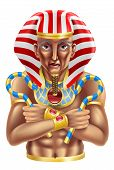 foto of sceptre  - Illustration of an ancient egyptian pharaoh king icon or avatar - JPG