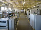 pic of assembly line  - modern plant of electrical power distribution boxes - JPG