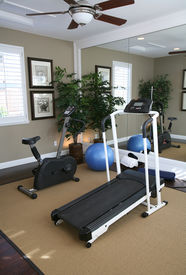 pic of exercise bike  - an exercise room inside a residential home - JPG