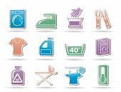 Washing machine and laundry icons