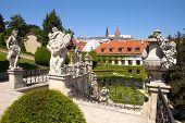 Prague - Vrtba Garden And Hradcany Castle