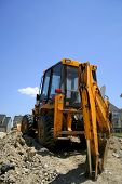 image of heavy equipment  - Medium size construction equipment on construction site.