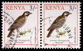 Two 3-schilling Stamps Printed In Kenya
