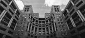 Modern architecture of Yerevan, Armenia. horizontal shot