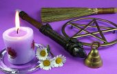 picture of pentacle  - candles - JPG