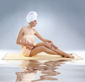 Young beautiful woman getting spa treatment