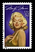 USA Marilyn Monroe vintage stamp