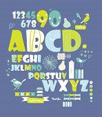 Постер, плакат: сладкий шрифта set очень мило зеленый шрифты кодировка