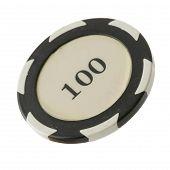 One Hundred Dollars Casino Chip
