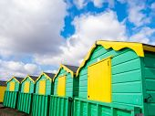 Colourful Beach Huts At Littlehampton, England