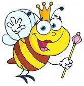 Queen Bee Cartoon Character
