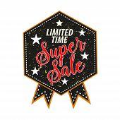 Super Sale Seal Stamp. Vector Illustration Isolated On White Background - Super Sale Seal Stamp poster