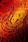 picture of mayan  - Close up of Mayan calendar For background - JPG