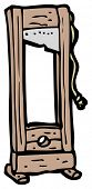 pic of guillotine  - guillotine cartoon - JPG
