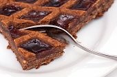 pic of linzer  - Austrian linzer tarte with jam and almonds - JPG