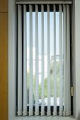 Window Curtains With Sunlight Through, Interior Design, Venetian Blinds By The Window Or Blinds Wind poster