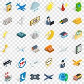 Crossroad Icons Set. Isometric Style Of 36 Crossroad Vector Icons For Web For Any Design poster