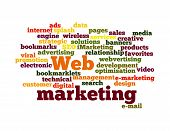 Web Marketing nube palabra aislada