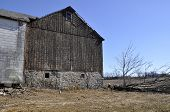 Old Worn Barn In Pennsylvania