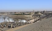image of aswan dam  - the Aswan Dam with hydroelectric power plant in Aswan  - JPG