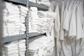 Hotel Linen Cleaning Services. Hotel Clean Laundry poster