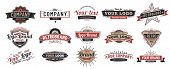 Old Badges. Vintage Sign, Retro Premium Badge And Logo Emblem Frame Vector Set poster