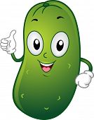 Illustration of a Pickle Mascot Giving a Thumbs Up