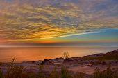 Hdr Image Of A Beautiful Sunset At Sleeping Bear Dunes National Lakeshore, Michigan, Usa poster