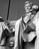stock photo of abraham lincoln memorial  - close - JPG