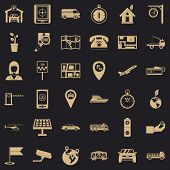 Navigation Equipment Icons Set. Simple Set Of 36 Navigation Equipment Vector Icons For Web For Any D poster