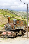 old locomotive in Tua, Douro Valley, Portugal