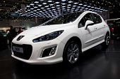 GENEVA - MARCH 8: The Peugeot 308 on display at the 81st International Motor Show Palexpo-Geneva on