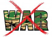 Anti-war vector symbol