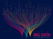Big Data Statistical Analysis Visualization Concept Vector Design. 0 And 1 Binary Code Data Visualiz poster