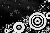 Abstracto de circulos blancos