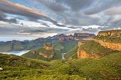 Blyde River Canyon Panorama From Viewpoint Over Panoramic Scenery Of Three Rondavels In Mpumalanga S poster
