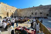 JERUSALEM - FEBRUARY 20: Jews pray at the Kotel (Western Wall) February 20, 2012 in Jerusalem, IL. T