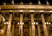 Juarez Theater, Guanajuato, Mexico Front At Night