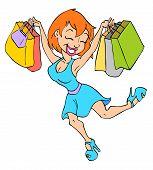 Cute Girl Shopping