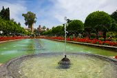 Fountain in Gardens at the Alcazar, Cordoba, Spain