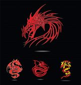 abstract and tradition religion red dragons