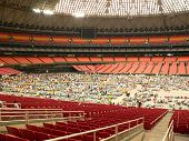 stock photo of katrina  - hurricane katrina shelter in the houston astrodome - JPG