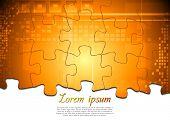 Modern tech background. Puzzle vector design eps 10